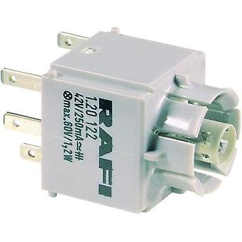 Contact + bulb holder 2 makers momentary 250 V RAFI 1.20.122.042/0000 20 pc(s)