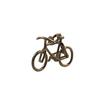 9ct Gold 12x20mm Bicycle Pendant or Charm