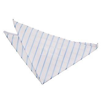 Blanc & bébé bleu simple mouchoir Stripe / Square de poche