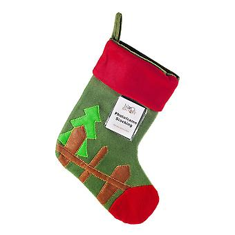Green Felt Christmas Photoframe Stocking