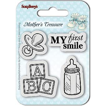 ScrapBerry's Mother's Treasure Clear Stamps 2.7