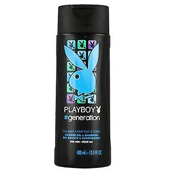 Playboy Generation Shower Gel & Shampoo for Him 13.5oz / 400ml