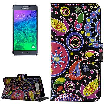 Mobile phone case pouch for mobile Samsung Galaxy Alpha color Flash abstract