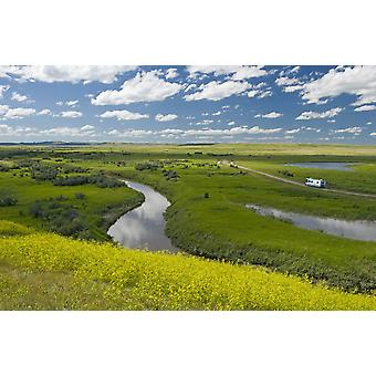 Frenchman River In West Block Of Grasslands National Park Saskatchewan Canada PosterPrint