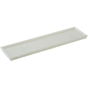 Vent grille PVC Wallair Furniture grill 202 x 53, white