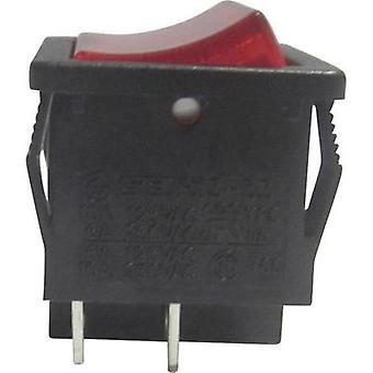Toggle switch 250 Vac 6 A 1 x Off/On SCI R13-33B-02RT latch 1 pc(s)