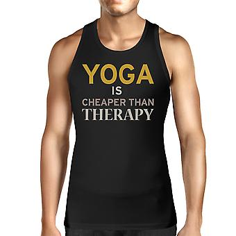 Yoga Is Cheaper Than Therapy Unisex Tank Top Yogi Sleeveless Shirt