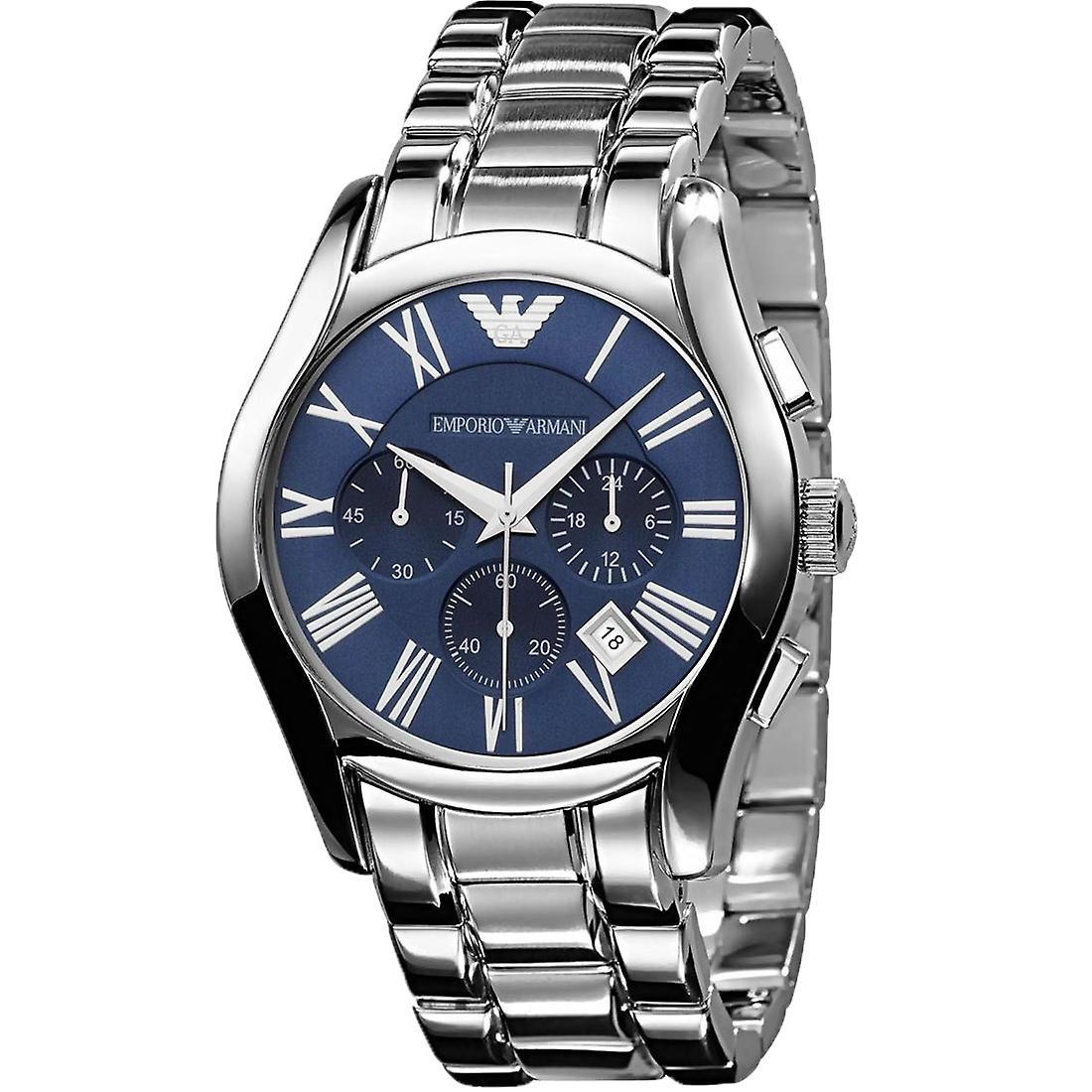 Emporio Armani AR1635 Stainless Steel Blue Dial Chronograph Watch