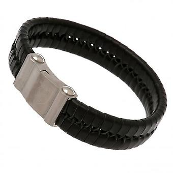 West Ham United Single Plait Leather Bracelet
