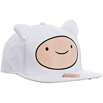 Adventure Time Finn Face with Ears Unisex Snapback Baseball Cap One Size White (86593ADV)