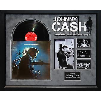 Johnny Cash - in San Quentin - ondertekend Album