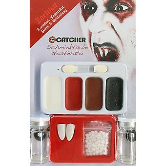 Make-up makeup teeth set Nosferatu with contact lenses