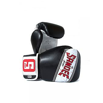 Sandee Sport 2 Tone PU Boxing Gloves - Black White