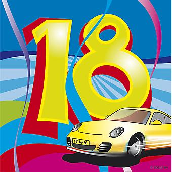 Birthday napkins 18 birthday decoration party automotive napkins 20 PCs
