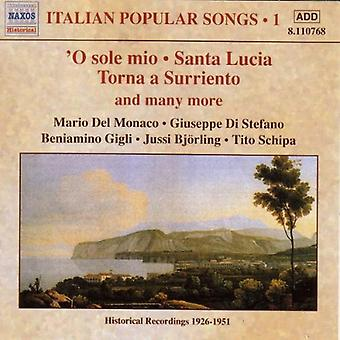 Italian Popular Songs - O Sole Mio; Santa Lucia; Torna a Surriento; and Many More [CD] USA import