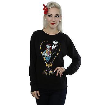 Disney Women's Nightmare Before Christmas Jack And Sally Love Sweatshirt