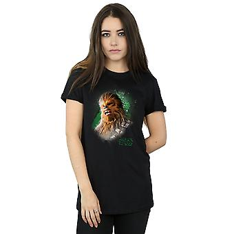 Star Wars Women's The Last Jedi Chewbacca Brushed Boyfriend Fit T-Shirt