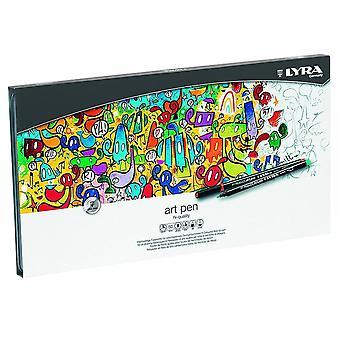 Lyra Hej kvalitet kunst penne Tin 50 assorterede farver