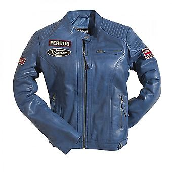 Warson Motors Warson Motors Ladies Grand Prix Leather Jacket - Blue