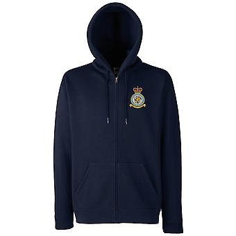 Menwith Hill RAF Station Embroidered Logo - Official Royal Air Force Zipped Hoodie Jacket