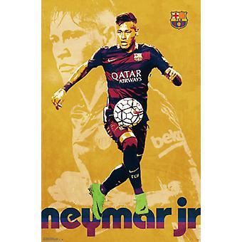 ФК Барселона - Neymar Jr 16 Плакат Плакат Печать