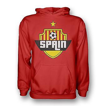 Spain Country Logo Hoody (red) - Kids