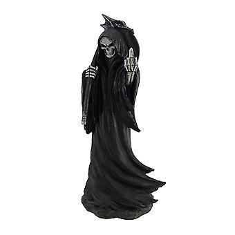 Grim Grouch Reaper Flipping Bird Hand Painted Figurine