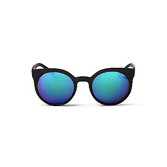 Cheapo Padang Sunglasses - Black / Blue Mirror