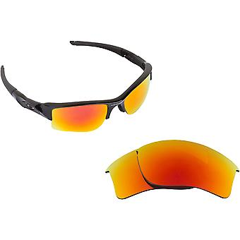 Flak Jacket XLJ Replacement Lenses Polarized Black Ruby Red by SEEK fits OAKLEY