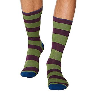 Kieran men's super-soft bamboo crew socks in green | By Thought