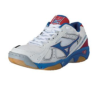 Twister MIZUNO Wave 2 chaussure Indoor [blanc/bleu/rouge]