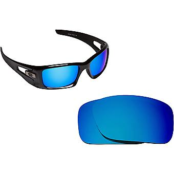 Crankcase Replacement Lenses Polarized Blue Mirror by SEEK fits OAKLEY