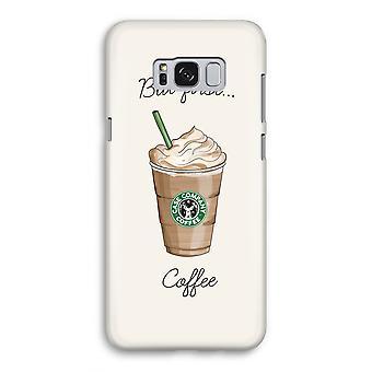 Samsung Galaxy S8 Full Print mål - men första kaffe