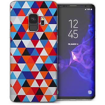 Samsung Galaxy S9 Retro Triangle Pattern TPU Gel Case – Blue