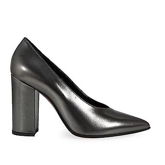 Franco Colli women's FC1149ARG silver leather pumps