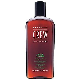 American Crew Tea Tree 3-i-1 Shampoo balsam Body Wash 450ml