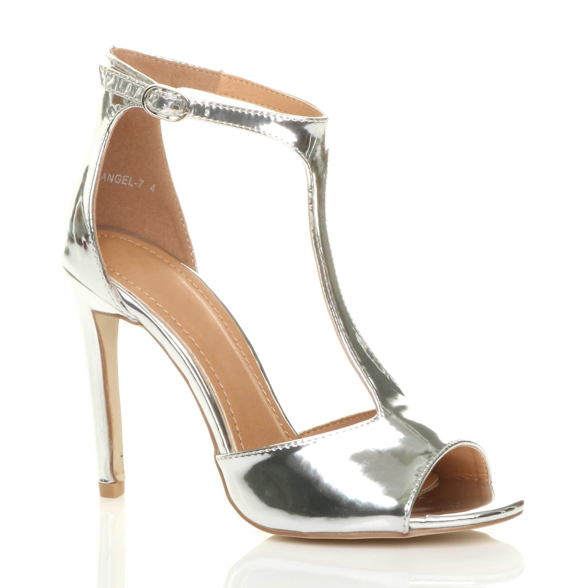Ajvani Womens high-Heel Schlepplift Knöchel Riemen Partei Sandalen Peep Toe Schuhe Größe
