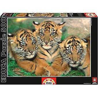 Educa 500 Pieces Little Tigers (Babies and Children , Toys , Boardgames)