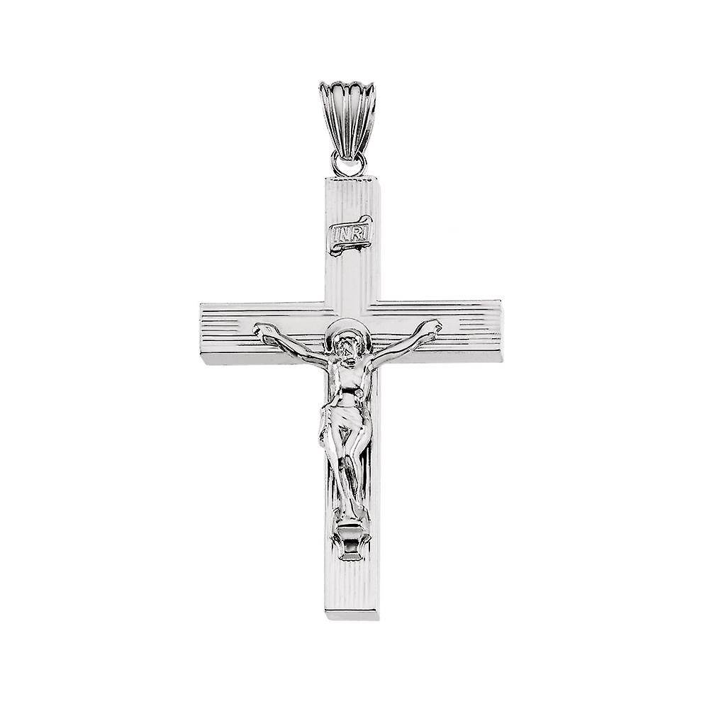 Sterling argent HolFaible Crucifix pendentif 51.5x35.25mm  - 4.9 Grams