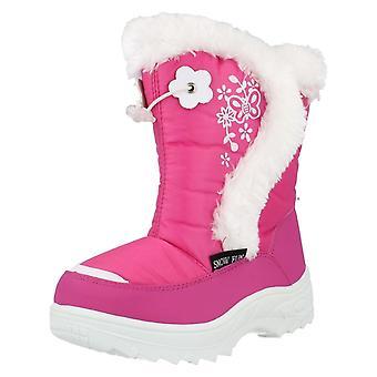 Chicas Snowfun botas de piel de ajuste 8.51102