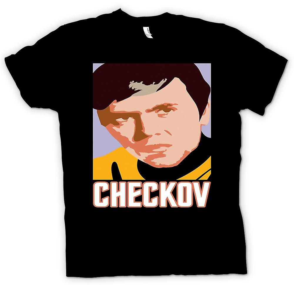 Hommes T-shirt - Star Trek - Pop Art - Checkov