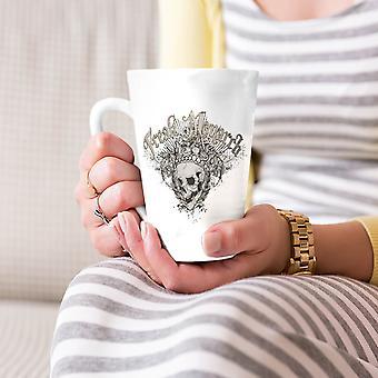Czaszka Freak Monarch króla nowy Biała herbata kawa Latte ceramicznych kubek 17 oz   Wellcoda
