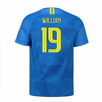 2018-2019 Brazil Away Nike Football Shirt (Willian 19)