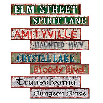 Halloween Street Sign Cardboard Cutouts