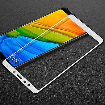 Premium 0.3 mm bent H9 tempered glass white foil for Xiaomi Redmi 5 protection