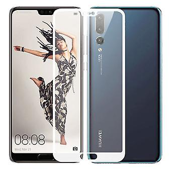 Premium 0.3 mm H9 tempered glass white foil for Huawei P20 per cover new
