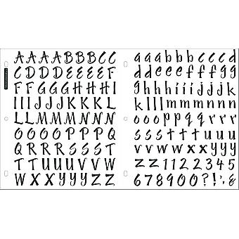 Sticko Alphabet Stickers-Brush Black