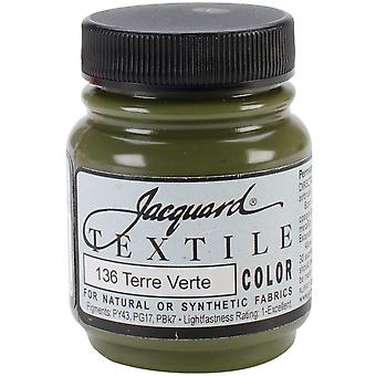 Jacquard Textile Color Fabric Paint 2.25oz-Terre Verte