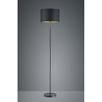 Trio Lighting Hostel Modern Black Matt Metal Floor Lamp