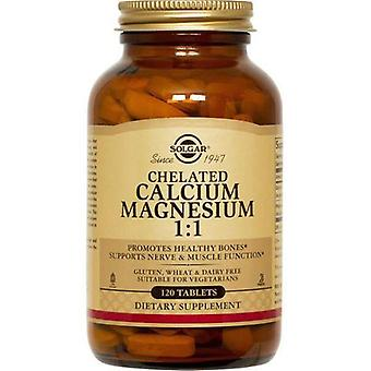 Solgar, Chelated Calcium Magnesium 1:1 Tablets, 120